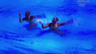 Rio Olympics  Mexican Swimmers Performing On Daler Mehndis Bollywood Song Aila Re Aila