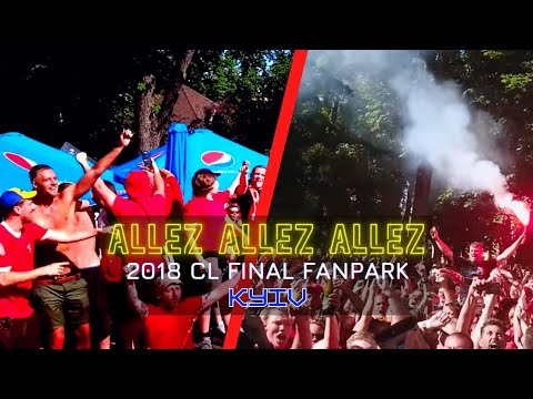 Epic! Liverpool Fans Sing Allez Allez Allez in Kyiv, Jamie Webster + aBossNight, Kiev UCL Final 2018