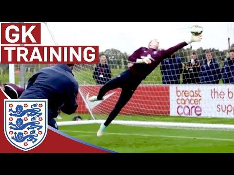 Joe Hart & goalie reactions training   Inside Training