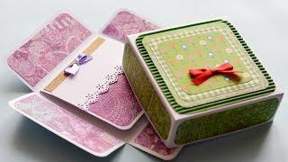 How to Make - Surprise Box Greeting Card Birthday - Step by Step | Kartka Niespodzianka
