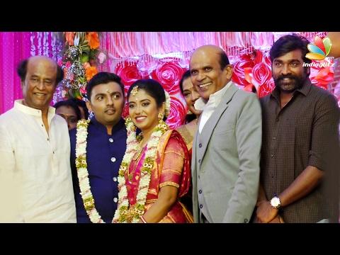 Rajini, Vijay Sethupathi at Actor Vagai Chandrasekhar Daughter Wedding Reception | Marriage Video