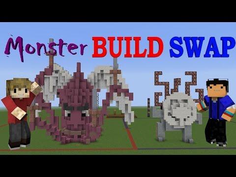 MONSTER BUILD SWAP! - Minecraft Minigame /w Taurtis