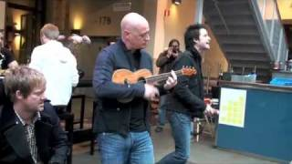 Train performs Hey, Soul Sister live unannounced in a mall in Stockholm
