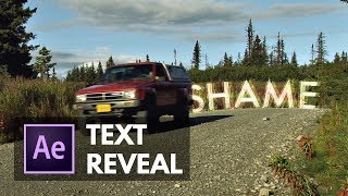 Swipe-to-Reveal Text Effect in After Effects (Animated Mask Reveal)