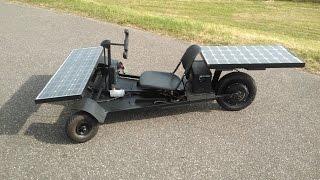 40 km/h Homemade Solar Car  (dramatic reconstruction)