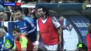 Euphoric Celebration Iker Casillas after Cristiano Ronaldo goal vs Levante 2013