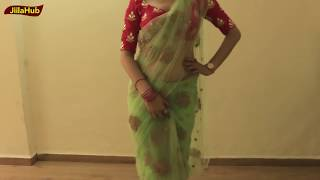 Net Saree Drape | Simplest Way of Saree Wearing Step by Step