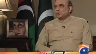 enterview for asif ali zardari videos geo news tv
