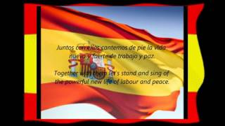 Spanish National Anthem La Marcha Real  with English & Spanish Lyric