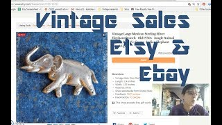 Diggin' with Dirty Girl S7E16 Vintage Etsy & Ebay Sales January 2018