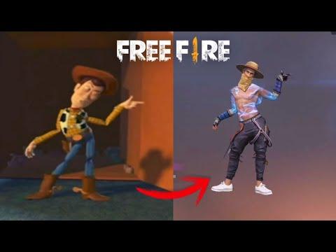 ORÍGEN DE LOS BAILES emotes DE FREE FIRE vida real