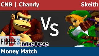 Forte 3 Melee - CNB | Chandy (DK) vs Skeith (Link) - Money Match