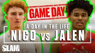 Nico Mannion vs Jalen Green: The BIGGEST Gameday of the YEAR 🏆   SLAM Day in the Life