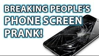 BREAKING PHONE SCREENS! Funny Magic Trick Prank!