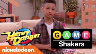 Henry Danger & Game Shakers Crossover | Kid Trainer Demarjay Smith Motivates the Casts | Nick