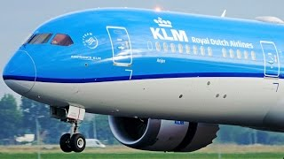 First KLM Boeing 787-9 [PH-BHA] Beautiful Morning Landing at Amsterdam Airport Schiphol
