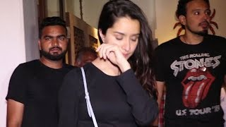 Shraddha Kapoor CAUGHT On Camera Without Makeup In A Short Red Leather Skirt