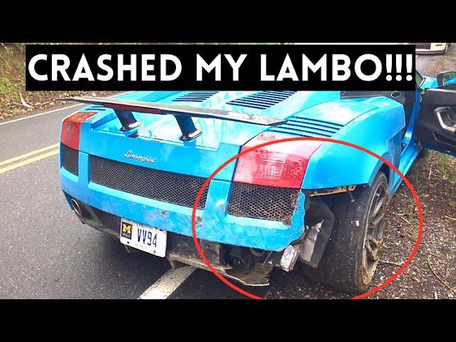 HE WRECKED MY LAMBORGHINI !!!