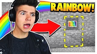 FINDING THE RAINBOW BUTTON in MINECRAFT!