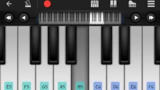 Maine oo sanam tujhe pyaar kiya piano note