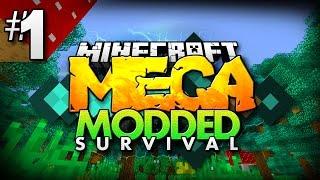Minecraft MEGA Modded Survival #1 | OVER 200+ MODS TO EXPLORE! - Minecraft Mod Pack