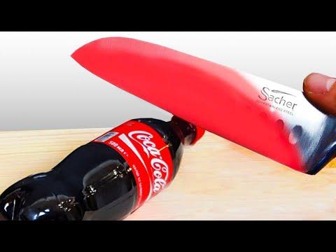 1 000 Degree Knife vs Coca Cola