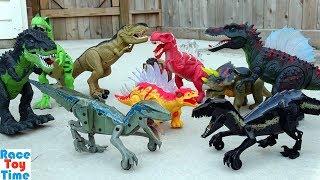 Jurassic World Fallen Kingdom Walking Velociraptor Blue and Indoraptor Dino Toys For Kids