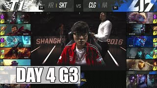 SK Telecom T1 vs CLG | Day 4 Mid Season Invitational 2016 | SKT vs CLG G2 MSI 1080p