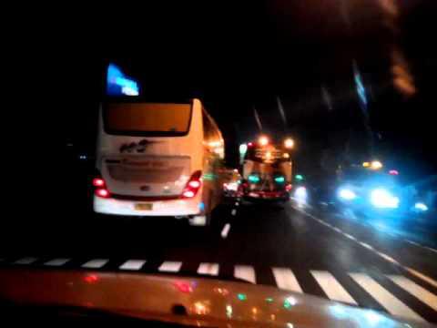Kesetanan duel Bus malam,Kr Jati Vs Haryanto Andromeda