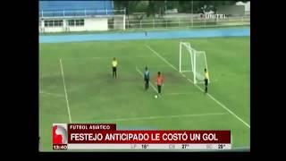 Festejo anticipado de un arquero le costó un insólito el gol en el fútbol asiático