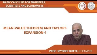 Mean-Value Theorem And Taylor's Expansion-1