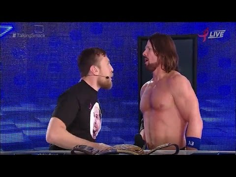 A.J Styles Completely Loses It in the Face of GM Daniel Bryan on Talking Smack 18 October 2016