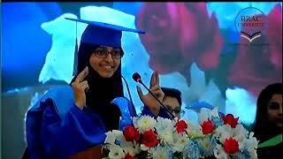 Valedictorian Speech of Zainab Syed Ahmed at 11th Convocation of BRAC University