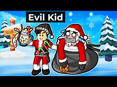 Stealing CHRISTMAS as a EVIL KID in Roblox