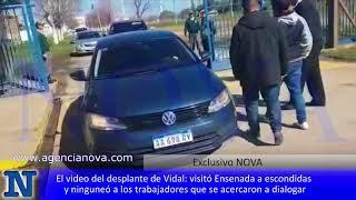 El video del desplante de Vidal: visitó Ensenada a escondidas  y ninguneó a los trabajadores