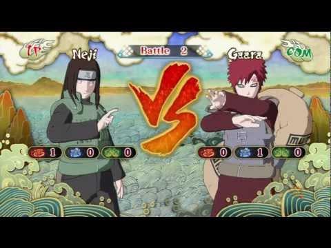 Naruto Shippuden Ultimate Ninja Storm 3 Neji Vs Gaara