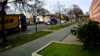 Truck turns back with police's help