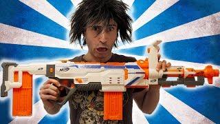 NERF WAR: THE BIG GUN!