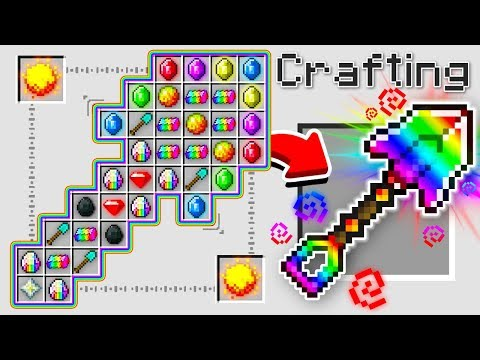 HOW TO CRAFT A 1 000 000 RAINBOW SHOVEL OVERPOWERED Minecraft 1.13 Crafting Recipe