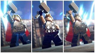 All MCU Thors in LEGO Marvel Superheroes Cutscene + Mods