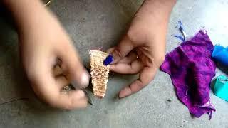 बचे हुये कपड़े (कतरन) की मदद से डिजाइनिंग लटकन बनाना सीखे