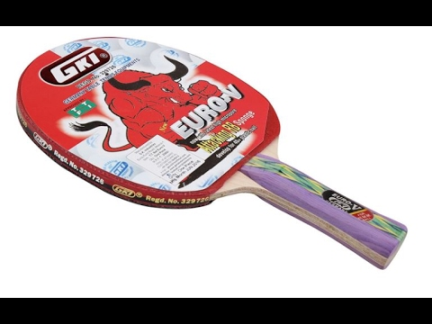 GKI EURO V Table Tennis Bat Unboxing