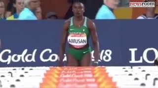 20-year-old Oluwatobiloba Amusan makes Nigeria proud at the 2018 Commonwealth Games