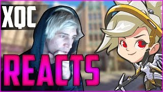 xQc REACTS TO MERCY CHANGE ARGUMENT