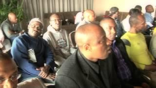 SLPU Belgium chairman addressing president Koroma and deligates