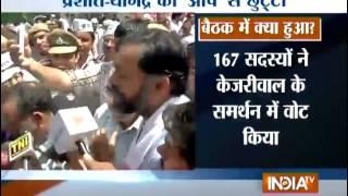 Yogendra Yadav: 2 Bouncers Dragged and Beat Ramzan Chaudhary in National Council Meeting - India TV