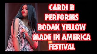 CARDI B PERFORMS AT THE MADE IN AMERICA FESTIVAL