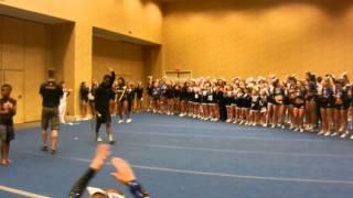 Cheerleader activates beast mode, flips forever