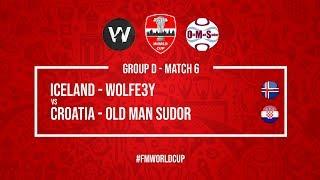 Iceland vs Croatia   Wolfe3y vs OldManSudor   Football Manager 2018   #FMWorldCup