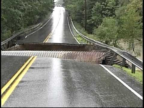 Road Collapse Maine 2008